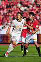 Yuzo Tashiro (Antlers), Nobuhisa Yamada (Reds), OCTOBER 29, 2011 - Football / Soccer : 2011 J.League Yamazaki Nabisco Cup final match between Urawa Red Diamonds 0-1 Kashima Antlers at National Stadium in Tokyo, Japan. (Photo by AFLO)