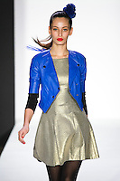 Loris walks runway in a bebeBlack Fall 2011 outfit, at the Style 360 Fall 2011 fashion show, during New York Fashion Week.