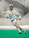 1 April 2008: University of Vermont Catamounts' Luke LaBranche, a Junior from Cold Spring Harbor, NY, in action against the Fairfield University Stags at Moulton Winder Field, in Burlington, Vermont. The Catamounts rallied to overcome a five goal deficit and defeat the visiting Stags 9-8 notching their third win of the season...Mandatory Photo Credit: Ed Wolfstein Photo