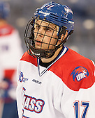 Chris Maniccia (UML - 17) - The University of Massachusetts Lowell River Hawks defeated the visiting American International College Yellow Jackets 6-1 on Tuesday, December 3, 2013, at Tsongas Arena in Lowell, Massachusetts.