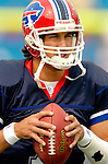 25 September 2005: JP Losman, Quaterback for the Buffalo Bills, takes part in some warm-up drills prior to a game against the Atlanta Falcons. The Falcons defeated the Bills 24-16 at Ralph Wilson Stadium in Orchard Park, NY.<br /><br />Mandatory Photo Credit: Ed Wolfstein.