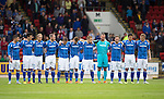 St Johnstone v Alashkert FC...09.07.15   UEFA Europa League Qualifier 2nd Leg<br /> A minutes silence was held in memory of Billy and Lisa Graham<br /> Picture by Graeme Hart.<br /> Copyright Perthshire Picture Agency<br /> Tel: 01738 623350  Mobile: 07990 594431