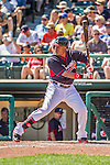 21 March 2015: Atlanta Braves outfielder Cedric Hunter in action during a Split Squad Spring Training game against the Washington Nationals at Champion Stadium at the ESPN Wide World of Sports Complex in Kissimmee, Florida. The Braves defeated the Nationals 5-2 in Grapefruit League play. Mandatory Credit: Ed Wolfstein Photo *** RAW (NEF) Image File Available ***