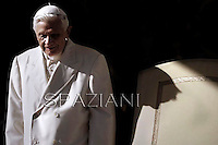 Pope Benedict XVI during his weekly general audience in St. Peter square at the Vatican, Wednesday. 7 november, 2012