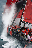 11OCT08. Il Mostro leaves Alicante for the start of Leg 1 of the Volvo Ocean Race 2008-09. Next stop is Cape Town in 6500NM (ETA 3rd Nov 08)