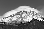 "Lenticular ""cap"" cloud over Mt. Rainier"