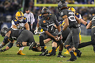 Baltimore, MD - December 10, 2016: Army Black Knights quarterback Ahmad Bradshaw (17) pitches the ball during game between Army and Navy at  M&T Bank Stadium in Baltimore, MD.   (Photo by Elliott Brown/Media Images International)