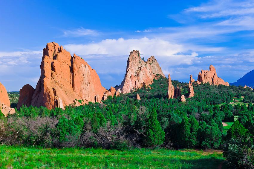Garden Of The Gods Colorado Springs Colorado Usa