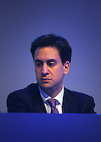 © Licensed to London News Pictures. 28/09/2011. LONDON, UK.  Ed Miliband, Leader of the Labour Party  at The Labour Party Conference in Liverpool today (28/09/11). Photo credit:  Stephen Simpson/LNP