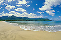 Hanalei Bay beach, Kauai, Hawaii.