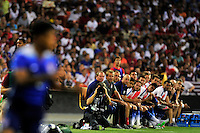 The US bench looks from the sideline. USA defeated Peru 2-1 during a Friendly Match at the RFK Stadium in Washington, D.C. on Friday, September 4, 2015.  Alan P. Santos/DC Sports Box