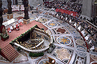 Pope Francis.celebration the marriage of the Sacrament of 20 couples.in St. Peter's Basilica. at the Vatican. on September 14, 2014