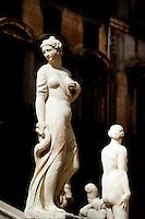 Details of La Fontana Pretoria, (Pretoria Fountain) constructed in 1554, Palermo, Sicily, Italy