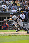 CHICAGO - JULY 27:  Alex Avila #13 of the Detroit Tigers attempts to field a bunt while catching against the Chicago White Sox on July 27, 2011 at U.S. Cellular Field in Chicago, Illinois.  The White Sox defeated the Tigers 2-1.  (Photo by Ron Vesely)  Subject: Alex Avila