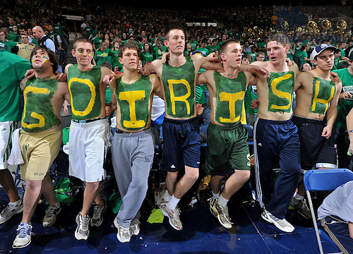 Jan. 22, 2011; Fans at Men's Basketball.