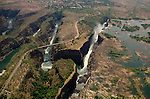 Victoria Falls, Zambia/Zimbabwe, from a helicopter.