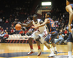 Ole Miss'  Eniel Polynice (14) vs. Auburn's Frankie Sullivan (20)  in Oxford, Miss. on Wednesday, February 24, 2010. Ole Miss won 85-75, giving coach Andy Kennedy his 100th win as a head coach.