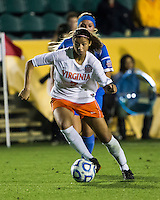 Number one seed Virginia and number two seed UCLA play in the the NCAA Division I Soccer Tournament semifinals at Wakemed Soccer Park in Cary, NC on December 6, 2013.
