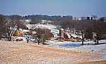A collection of Barns that still can be seen while traveling the countryside in  the beautiful State of Wisconsin.<br /> Farmstead Iowa County- Hwy 19, East of County Road Y.