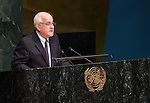 OBSERVERS:<br /> STATE OF PALESTINE<br /> General Assembly 70th session:  66th plenary meeting<br /> 1. Report of the Credentials Committee (A/70/573 (to be issued)) [item 3 (b)]<br /> 2. Culture of peace [item 16]<br /> (a) Report of the Secretary-General (A/70/373) <br /> (b) Draft resolutions (A/70/L.20 and A/70/L.24 (to be issued))