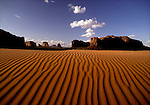 Desert landscape and rock formations of Monument Valley. <br />