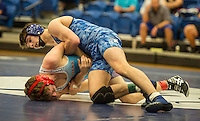NWA Democrat-Gazette/ANTHONY REYES @NWATONYR<br /> Jake Turner (top), Rogers sophomore, against Bailey Fry of Fort Smith Southside, Tuesday, Jan. 24, 2017 at King Arena in Rogers. Turner was the 6A-7A state runner-up at 126 last year as a freshman. Turner now competes at 138.
