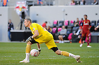 New York Red Bulls goalkeeper Greg Sutton (24). The New York Red Bulls and Real Salt Lake played to a 0-0 tie during a Major League Soccer (MLS) match at Red Bull Arena in Harrison, NJ, on October 09, 2010.