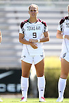 11 September 2011: Texas A&M's Merritt Mathias. The Texas A&M Aggies defeated the University of North Carolina Tar Heels 4-3 in overtime at Koskinen Stadium in Durham, North Carolina in an NCAA Division I Women's Soccer game.