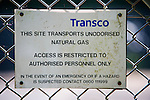 Transco gas pipeline information sign