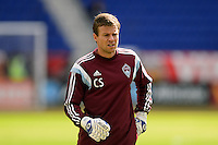 Colorado Rapids assistant goalkeeper coach Chris Sharpe. The New York Red Bulls and the Colorado Rapids played to a 1-1 tie during a Major League Soccer (MLS) match at Red Bull Arena in Harrison, NJ, on March 15, 2014.