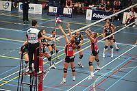VOLLEYBAL: SNEEK: Sneker Sporthal, DELA League Play-Off Finale, 4e wedstrijd, 01-04-2012, VC Sneek DS1 - Sliedrecht Sport DS1, eindstand 1-3, Sliedrecht Sport pakt de landstitel, ©foto Martin de Jong
