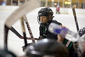 Jake.Jacobson of the North Carolina Trailblazers women's hockey team during a game against a men's team at the Ice House in Garner.