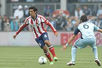 Edgar Mejia (8) midfield Chivas USA in action..Sporting Kansas City defeated Chivas USA 4-0 at Sporting Park, Kansas City, Kansas.