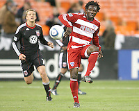 Ugo Ihemelu #3 of F.C. Dallas during a US Open Cup match against D.C. United on April 28 2010, at RFK Stadium in Washington D.C. United won 4-2.