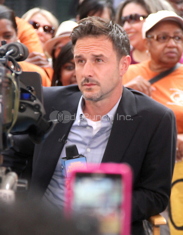 NEW YORK CITY, NY: July 23, 2012 David Arquette at Good Morning America to talk about new Travel Channel TV show Mile High and his work with @EcoMom a initiative to feed hungry children in New York City. © RW/MediaPunch Inc.