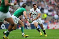 Brad Barritt of England in possession. QBE International match between England and Ireland on September 5, 2015 at Twickenham Stadium in London, England. Photo by: Patrick Khachfe / Onside Images