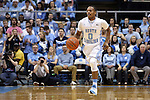 27 December 2014: North Carolina's Nate Britt. The University of North Carolina Tar Heels played the University of Alabama Birmingham Blazers in an NCAA Division I Men's basketball game at the Dean E. Smith Center in Chapel Hill, North Carolina. UNC won the game 89-58.