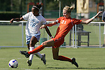 7 November 2007: Clemson's Molly Johnson (21) tries to tackle the ball away from North Carolina's Nikki Washington (26). The University of North Carolina defeated Clemson University 3-0 at the Disney Wide World of Sports complex in Orlando, FL in an Atlantic Coast Conference tournament quarterfinal match.