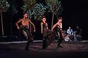 London, UK. 16.10.2014. Rocio Molina in BOSQUE ARDORA, which she presents as part of Dance Umbrella, at the Barbican. Picture shows: Eduardo Guerrero, Rocio Molina, Fernando Jimenez. Photograph © Jane Hobson.