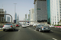 United Arab Emirates, Dubai, Sheikh Zayed Road, traffic