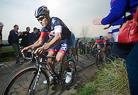 Heinrich Haussler (AUS/IAM) up the Paterberg (max 20%)<br /> <br /> 57th E3 Harelbeke 2014