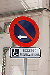 road sign in sevilla, spain