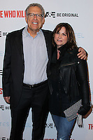 """HOLLYWOOD, LOS ANGELES, CA, USA - FEBRUARY 26: Carlton Cuse, Kerry Ehrin at the Premiere Party For A&E's Season 2 Of """"Bates Motel"""" & Series Premiere Of """"Those Who Kill"""" held at Warwick on February 26, 2014 in Hollywood, Los Angeles, California, United States. (Photo by Xavier Collin/Celebrity Monitor)"""