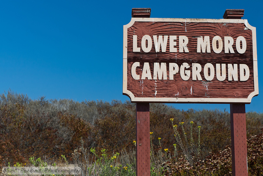 The sign marking the entrance to the Lower Moro campground.  It's tough to miss.