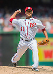15 May 2016: Washington Nationals starting pitcher Joe Ross on the mound against the Miami Marlins at Nationals Park in Washington, DC. The Marlins defeated the Nationals 5-1 in the final game of their 4-game series.  Mandatory Credit: Ed Wolfstein Photo *** RAW (NEF) Image File Available ***