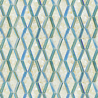 Leticia, a hand-cut jewel glass mosaic, shown in Quartz and Aquamarine.