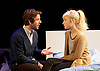 The Hard Problem <br /> by Tom Stoppard directed by Nicholas Hytner <br /> designed by Bob Crowley <br /> at the Dorfman Theatre, NT, Southbank, London, Great Britain <br /> Press photocall<br /> 27th January 2015 <br /> <br /> Damien Molony as Spike <br /> Olivia Vinall as Hilary <br /> <br /> <br /> Photograph by Elliott Franks <br /> Image licensed to Elliott Franks Photography Services