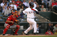 Ken Griffey Jr. Baseball: World Baseball Classic game between Canada and USA at Chase Field in Phoenix, AZ on March 8, 2006. Photo by Brad Mangin