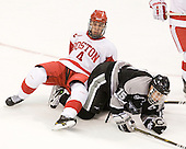 Adam Clendening (BU - 4), Kyle MacKinnon (Providence - 15) - The Boston University Terriers defeated the visiting Providence College Friars 2-1 on Saturday, October 23, 2010, at Agganis Arena in Boston, Massachusetts.