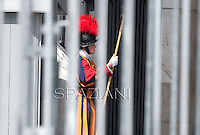 Pontifical Swiss Guard; Pope Benedict XVI during his weekly general audience in St. Peter square at the Vatican, Wednesday.6 june, 2012
